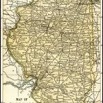 """Illinois Antique Map 1891"" by WilshireImages"