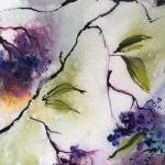 """Elderberries Modern Watercolor and Ink by Ginette"" by GinetteCallaway"