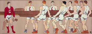 1907 Cornell Eight Crew Rowing Poster by Charles W