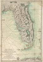 Antique Map Of Florida - 1780