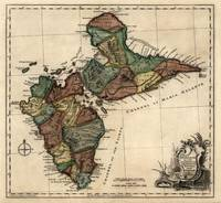 Antique Map Of Guadeloupe By Thomas Jefferys - 176