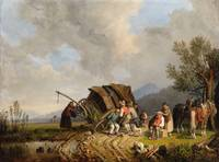 Heinrich Bürkel, The Toppled Post Carriage