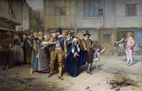 John Pettie - An Arrest for Witchcraft in the Olde