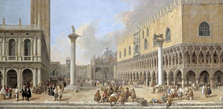 Luca Carlevarijs, 1663-1730. The Piazzetta at Veni