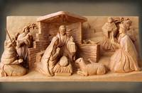 Christmas Creche with Brown Paper by George Wood