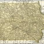 """Iowa Antique Map 1891"" by WilshireImages"