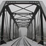 """Railroad bridge in winter"" by NickGB"