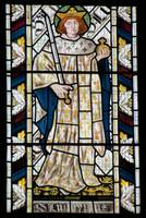 The French saint King Louis IX in the stained glas