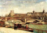 The Pont du Carrousel and the Louvre - Vincent van