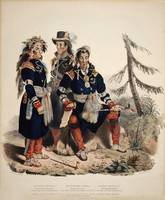 Three chiefs of the Huron by J. Dickinson 1825