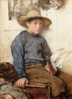 Walter Langley , A Fisherman's Son 1884