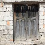 """""""Gray Wood Double Doors"""" by rhamm"""