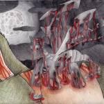 """Zombie Dragon Anime Illustration"" by 4FootNinja"
