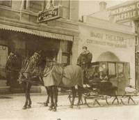 1911 rig with sleigh and horses