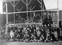 Crookston football team at grandstand