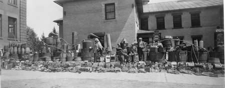 Confiscated stilling equipment to make moonshine