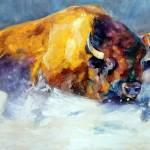 """""""Bison"""" by jacquelinebrewerart"""