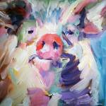 """Pig"" by jacquelinebrewerart"