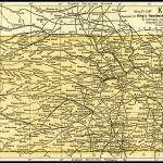 """Kansas Antique Map 1891"" by WilshireImages"
