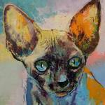 """Sphynx Cat Portrait"" by creese"