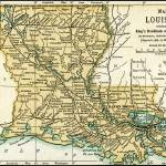 """Louisiana Antique Map 1891"" by WilshireImages"