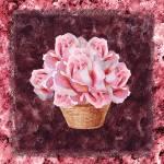 """Basket With Pink Roses"" by IrinaSztukowski"