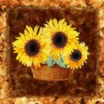 """Sunflower Basket Bouquet"" by IrinaSztukowski"