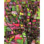 """Columbus 16x20 w border w signatuyre"" by carlandcartography"