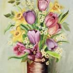 """Daffadils & Tulips"" by BrendaSalyersArt"