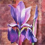 """Decorative Iris Flower Painting"" by IrinaSztukowski"
