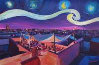 Starry Night in Marrakech - Van Gogh Inspirations