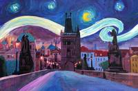 Starry Night in Prague - Van Gogh Inspirations on