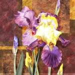 """Iris Flower Decorative Artwork"" by IrinaSztukowski"