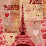 """Eiffel Tower Paris France Vintage Design"" by IrinaSztukowski"