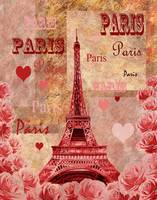 Eiffel Tower Paris France Vintage Design