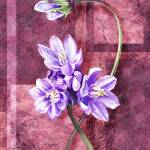 """Gorgeous Purple Flowers Decorative Painting"" by IrinaSztukowski"