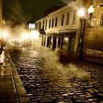 """Night after rain, night street scene, landscape."" by citrons"