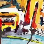 """Abstract City Streets Modern Decor"" by GinetteCallaway"