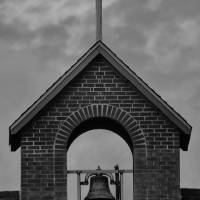 Church bell and tower Art Prints & Posters by Robert Estes