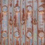 """Pattern on a Steel Door"" by rhamm"