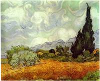 Vincent van Gogh's Wheat Field with Cypresses
