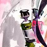 """Paint Tubes Modern Still Life Watercolor and Ink"" by GinetteCallaway"
