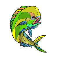 Mahi-Mahi Dorado Dolphin Fish Drawing