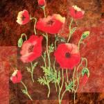 """""""Red Poppies Decorative Painting"""" by IrinaSztukowski"""