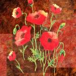 """Red Poppies Decorative Painting"" by IrinaSztukowski"