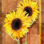 """Sunflowers Decorative Painting"" by IrinaSztukowski"