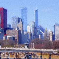 Chicago Skyline Impression Art Prints & Posters by Edward Bock