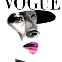 vintage beauty vogue Art Prints & Posters by Kasia Blanchard