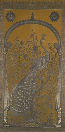Indian, late 19th century APPLIQUE PANEL WITH A PE