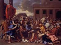 The Abduction of the Sabine Women Artist Nicolas P